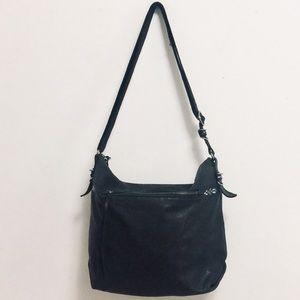 The Sak Black Peebled Leather Bag
